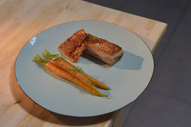 Confit Carrot and Pork Belly