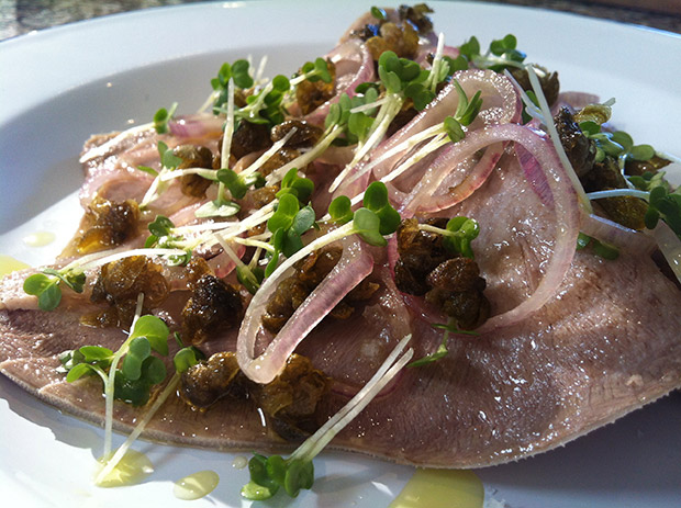 Ox Tongue Salad with Parsley and Crispy Capers