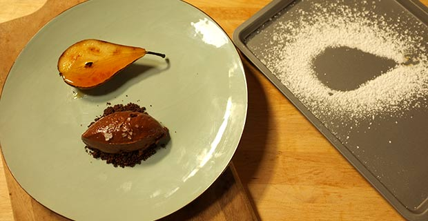 Chocolate mousse & pear