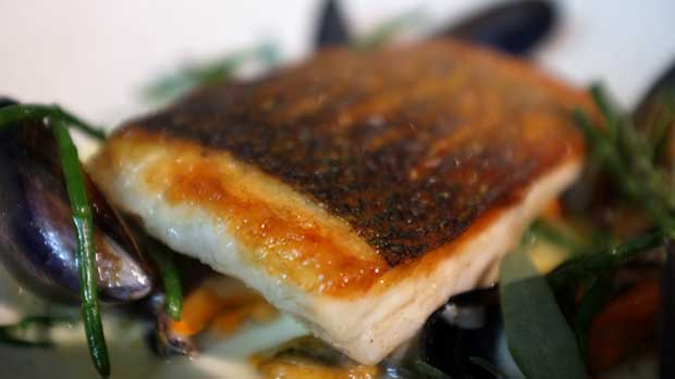 Seabass with Mussels